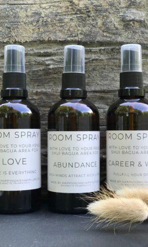 Room Sprays med baguakort | Happy Home Happy Life produkter